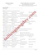 Đề thi thử THPT QG 2020   hóa học   gv lê phạm thành   đề 18   có lời giải