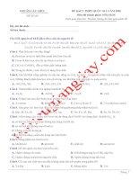 Đề thi thử THPT QG 2020   hóa học   gv lê phạm thành   đề 09   có lời giải