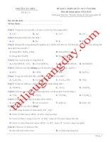 Đề thi thử THPT QG 2020   hóa học   gv lê phạm thành   đề 15   có lời giải