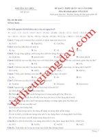 Đề thi thử THPT QG 2020   hóa học   gv lê phạm thành   đề 05   có lời giải