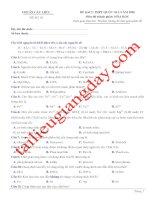 Đề thi thử THPT QG 2020   hóa học   gv lê phạm thành   đề 10   có lời giải