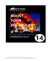 Boost your vocabulary cambridge IELTS 14 dinhthang
