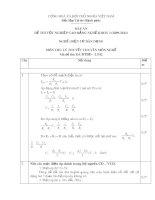 Đáp án đề thi tốt nghiệp cao đẳng nghề khoá 3 (2009-2012) - Nghề: Điện tử dân dụng - Môn thi: Lý thuyết chuyên môn nghề - Mã đề thi: ĐA ĐTDD-LT42