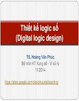 Bài giảng Thiết kế logic số: Lecture 3.1 - TS. Hoàng Văn Phúc