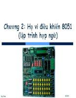 Bài giảng Vi xử lý - Vi điều khiển: Chương 2.3 - ThS. Phan Đình Duy