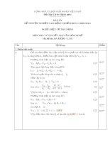 Đáp án đề thi tốt nghiệp cao đẳng nghề khoá 3 (2009-2012) - Nghề: Điện tử dân dụng - Môn thi: Lý thuyết chuyên môn nghề - Mã đề thi: ĐA ĐTDD-LT41