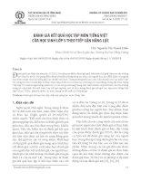 Đánh giá kết quả học tập môn tiếng Việt của học sinh lớp 5 theo tiếp cận năng lực