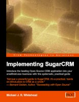 CUSTOMER  RELATIONSHIP MANAGEMENT implementing SugarCRM 190481168x