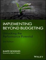 Implementing beyond budgeting unlocking the performance potential  2nd edition