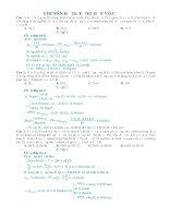 Chuyên đề tổng hợp hóa vô cơ