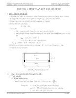 Chương 4 tính toán kết cấu hồ nước