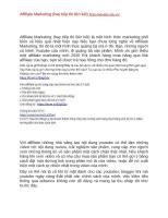 Kiếm tiền với affiliate marketing (hay tiếp thị liên kết) năm 2020