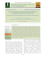 Changes in chemical constituents and overall acceptability of aonla-papaya jam and chutney during storage