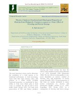 Physico-chemical, functional and rheological properties of proteins from Pinkperch (Nemipterus japonicus) meat: Effect of freezing and frozen storage