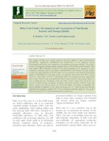 Baby corn candy: Development and assessment of nutritional, sensory and storage quality
