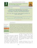 """Antioxidant and antimicrobial effects of lemongrass (Cymbopogon citrates) oil on the quality characteristics of camel burger """"Camburger"""" under refrigerated storage"""