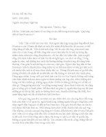 Triết luận về sự sống và cái chết trong Qúy ông đến từ San Francisco của Ivan Bunin