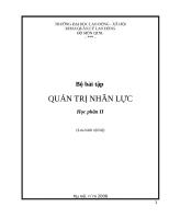 Bài tập tình huống QTNL