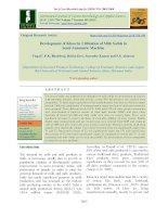 Development of khoa by utilization of milk solids in semi-automatic machine