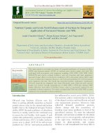 Nutrient uptake and grain yield enhancement of soybean by integrated application of farmyard manure and NPK