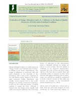 Evaluation of mango (Mangifera indica L.) cultivars on the basis of quality characters of fruit under Faizabad condition
