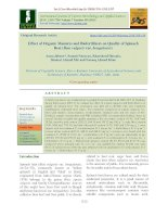 Effect of organic manures and biofertilizers on quality of spinach beet (Beta vulgaris var. bengalensis)