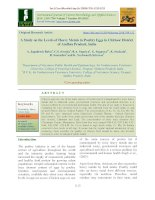 A study on the levels of heavy metals in poultry eggs in Chittoor district of Andhra Pradesh, India