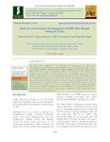 Study of cost economics of management of chilli mites through abamectin 1.8 EC