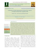 Estimation of carbon sequestration of selected tree species in Intanki National Park, Nagaland, India
