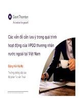 Các vấn đề cần lưu ý trong quá trình hoạt động của VPĐD thương nhân nước ngoài tại Việt Nam