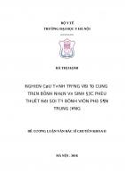 NGHIÊN cứu TìNH TRạNG vòi tử CUNG TRÊN BệNH NHÂN vô SINH được PHẫU THUậT nội SOI tại BệNH VIệN PHụ sản TRUNG ƯƠNG