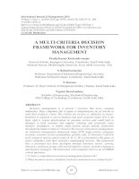 A multi-criteria decision framework for inventory management