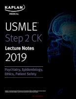 2019 kaplan USMLE step 2 CK psychiatric