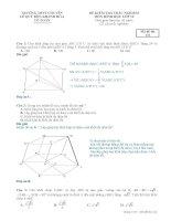 Đề kiểm tra trắc nghiệm hình học 12 chương 1 trường THPT chuyên lê quý đôn khánh hòa