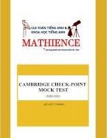 CAMBRIDGE CHECK POINT MOCK TEST