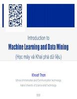 Bài giảng neural network Thân Quang Khoát