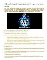 Cách sử dụng 1 source code được chia sẻ từ trên mạng