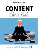 CONTENT CHÂN KINH  KIM CHỈ NAM CHO DÂN CONTENT