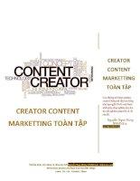 Creator content marketting toàn tập