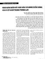 Kịch bản biến đổi khí hậu và nước biển dâng cho Việt Nam trong tương lai