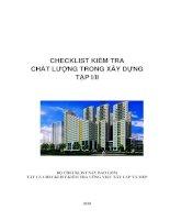 Checklist kiểm tra chất lượng - Civil works- tập 1/2