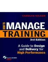 Training management  handbook  how to manage training