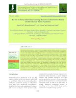 Review on backyard poultry farming: Resource utilization for better livelihood of the rural population