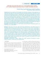 Chế độ vận chuyển bùn cát vùng đồng bằng sông Cửu Long trong kịch bản phát triển thượng nguồn