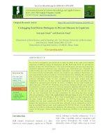 Unclogging seed borne pathogens to prevent diseases in Capsicum