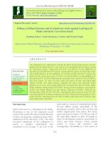 Efficacy of plant extracts and Trichoderma viride against leaf spot of maize caused by Curvularia lunata