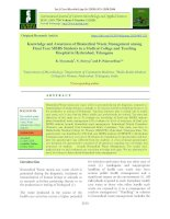 Knowledge and awareness of biomedical waste management among final year MBBS students in a medical college and teaching hospital in Hyderabad, Telangana