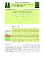 Mycoflora associated with green gram seeds in Odisha and their effect on seed health