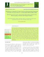 Performance evaluation of cluster front line demonstration programme on sesame (Sesamum indicum L.) in Samastipur district, Bihar, India