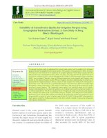 Suitability of groundwater quality for irrigation purpose using geographical information system: A case study of Durg block Chhattisgarh